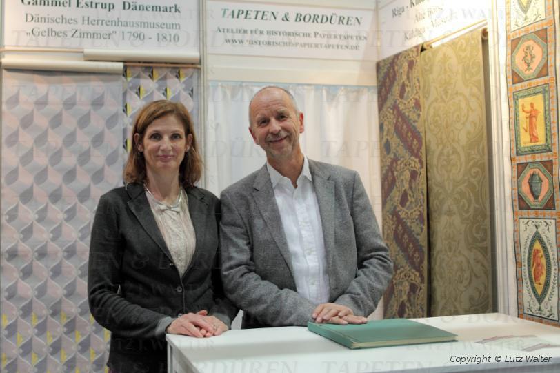 Historische Tapeten Restaurierung : 2014 in Leipzig – Aussteller TAPETEN & BORD?REN Lutz J. Walter